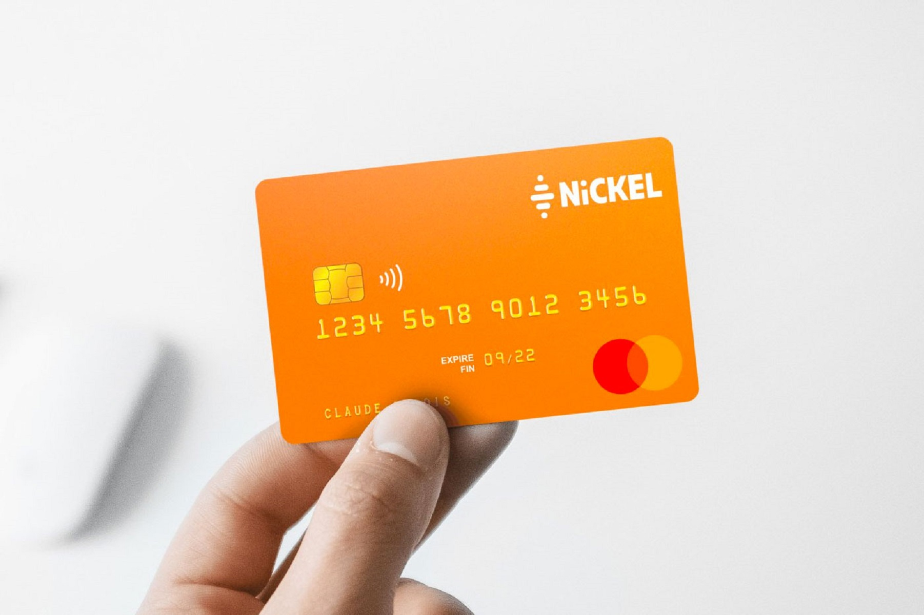 carte sans contact nickel
